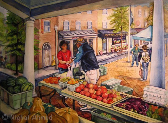 Farmers market, Kentlands