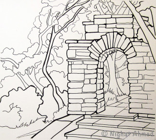 Archway to Glenview Mansion Gardens #3